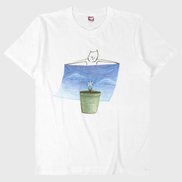 Tシャツ ほのかな希望が背景を求める。
