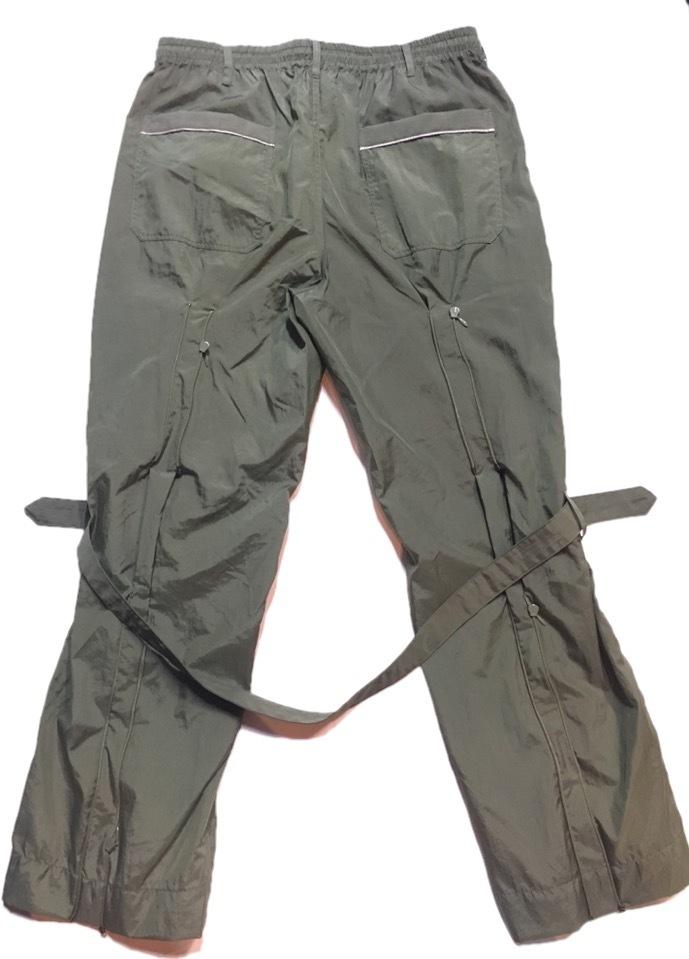 SKIN / nylon bondage pants(olive) - 画像3