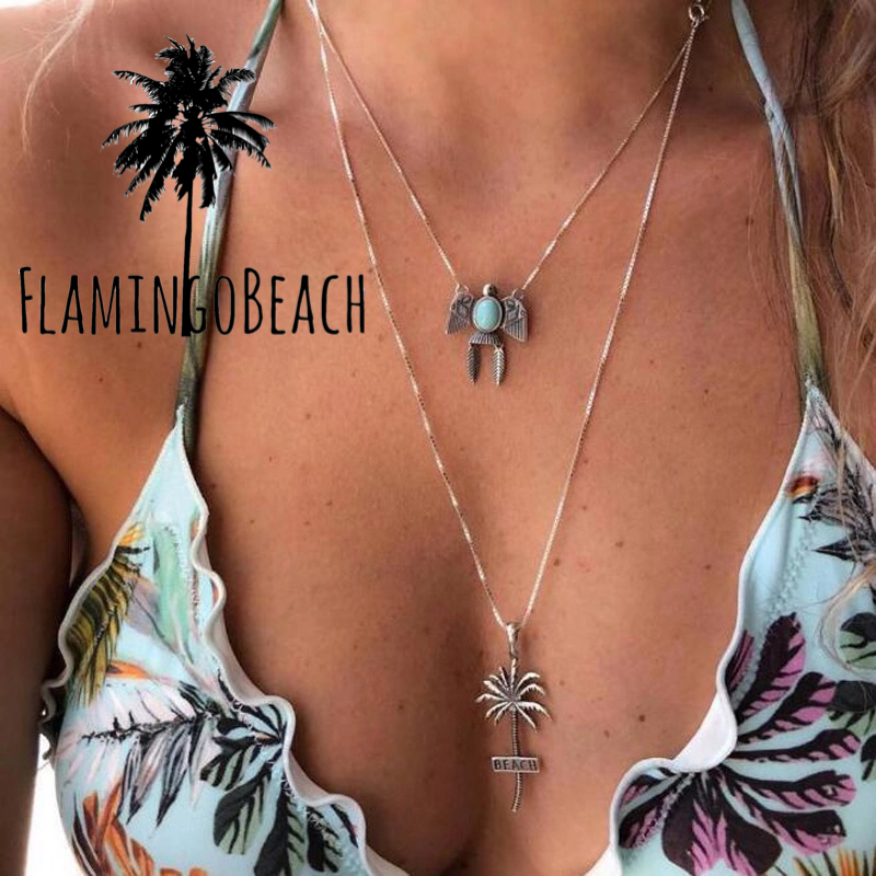 【FlamingoBeach】palmtree necklace ヤシの木 ネックレス