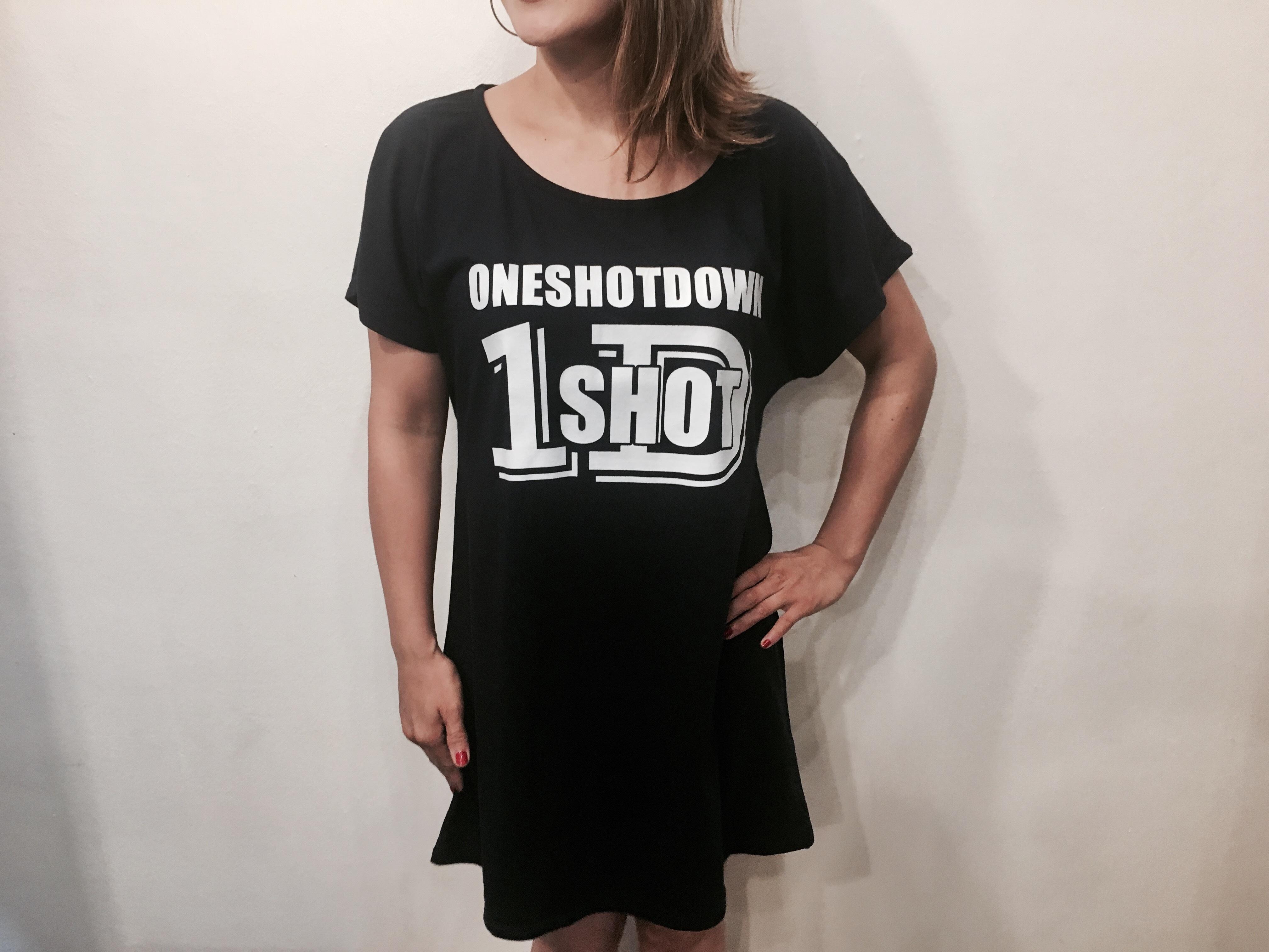 ONESHOTDOWN ガールズ ワンピースTシャツ - 画像5