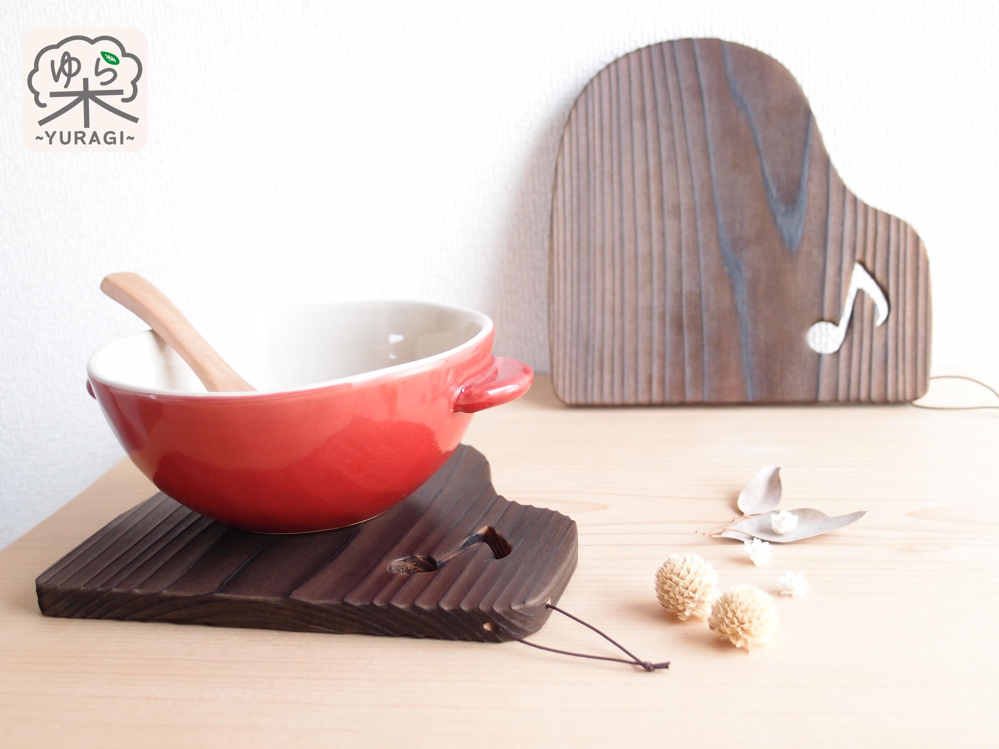 [単品]【ひも付き】ピアノ鍋敷き Lサイズ   ~発表会記念品として♪~