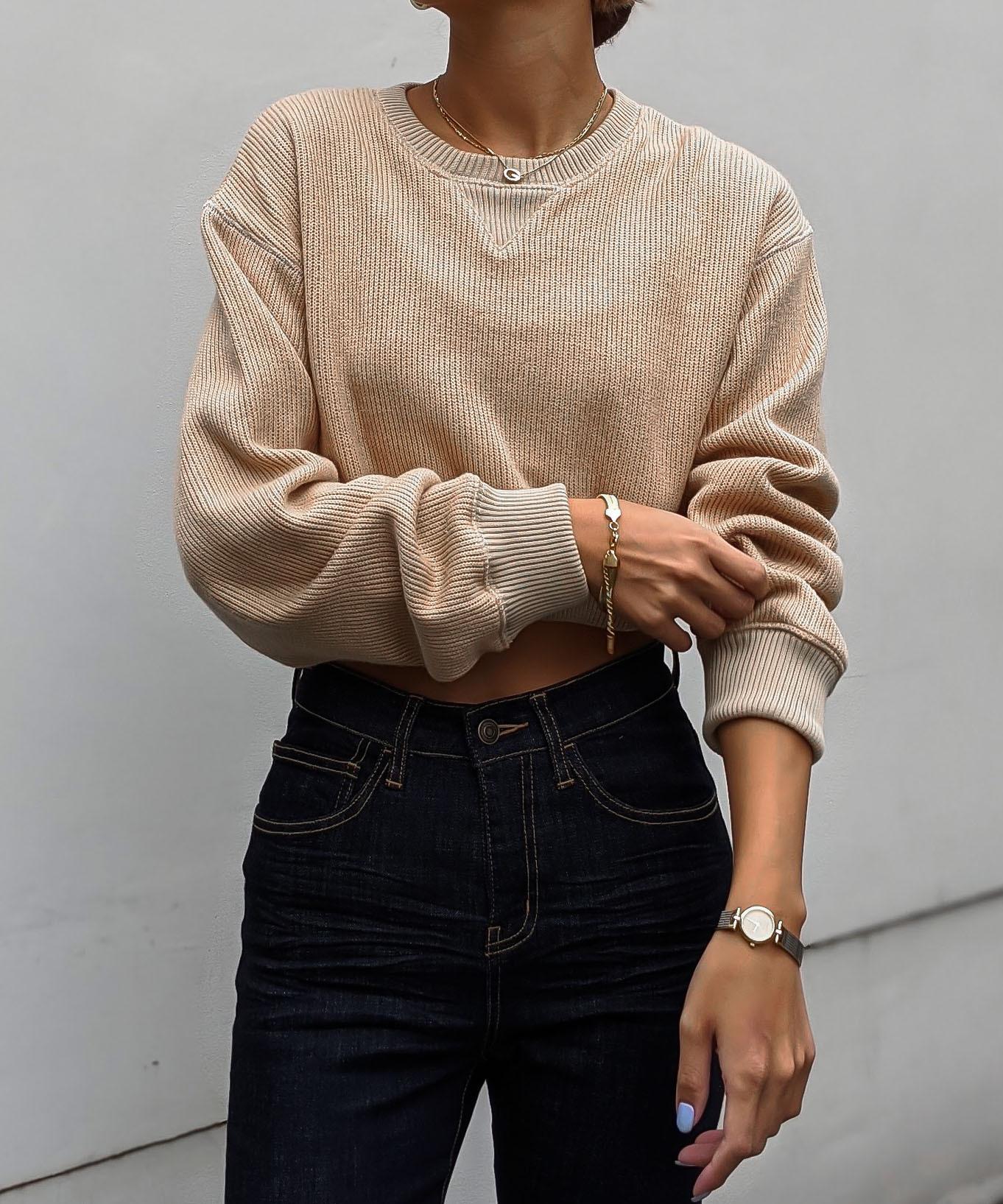 Stitch color short knit