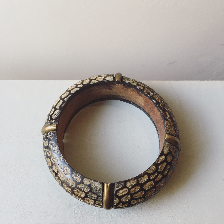 vintage wood bangle