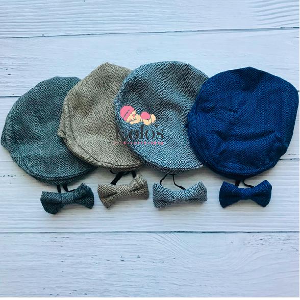 キュートなハンチング帽&蝶ネクタイセット