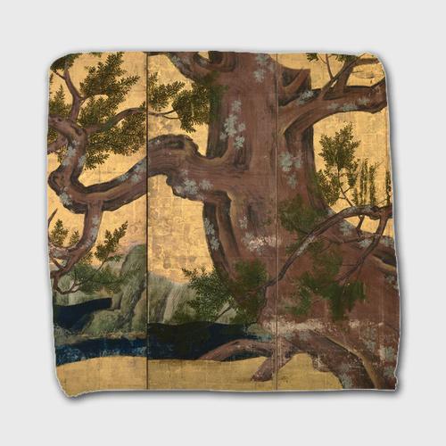 狩野永徳「檜図屏風」 ハンドタオル