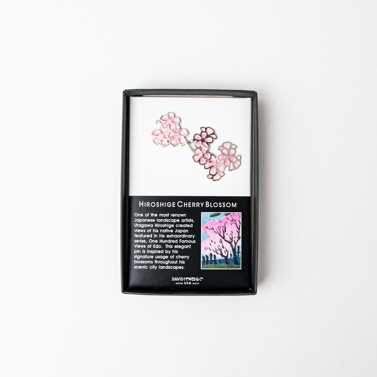 広重 桜ブローチ