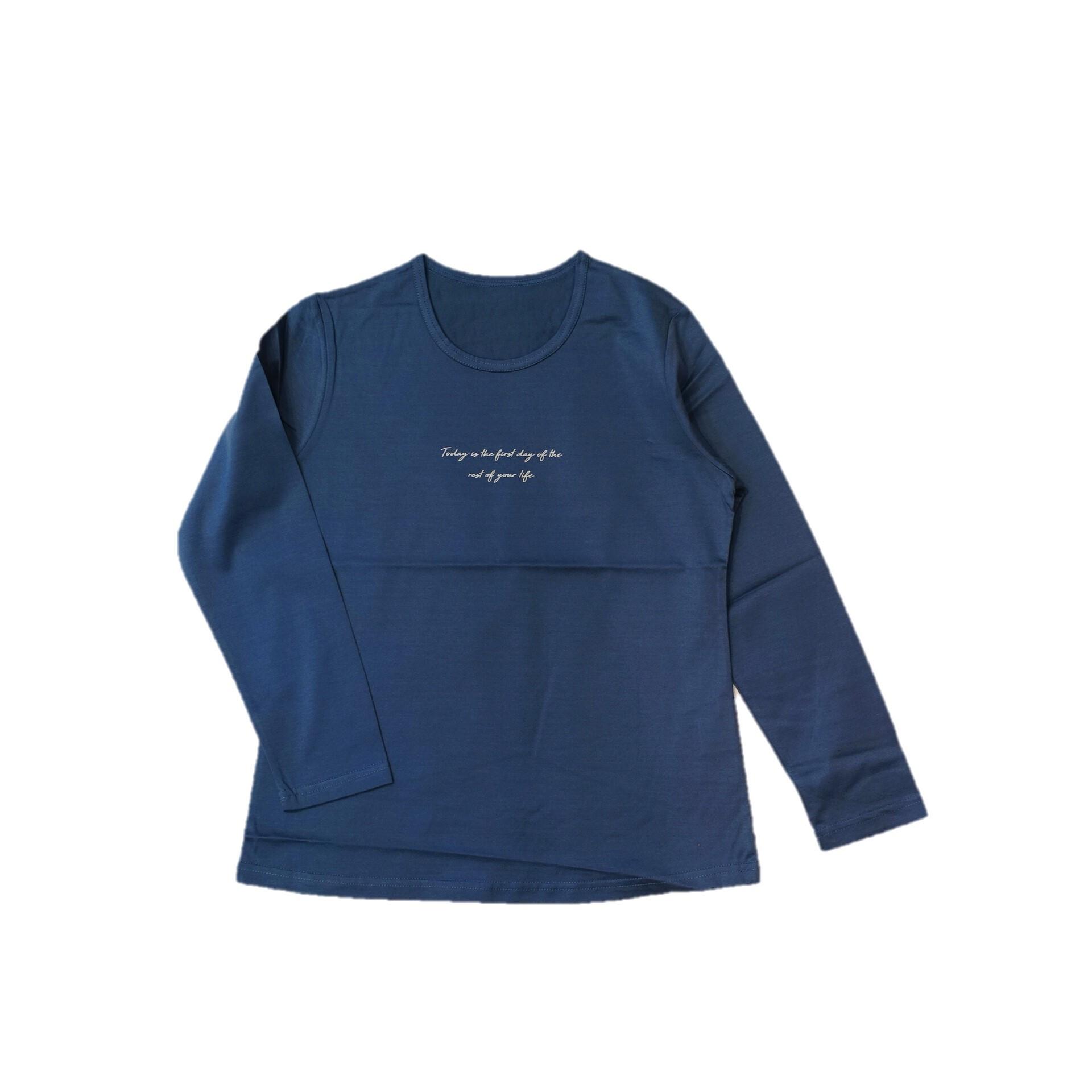 21033  ロゴカットソー/ブルー