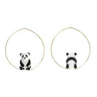 パンダ のフープピアス