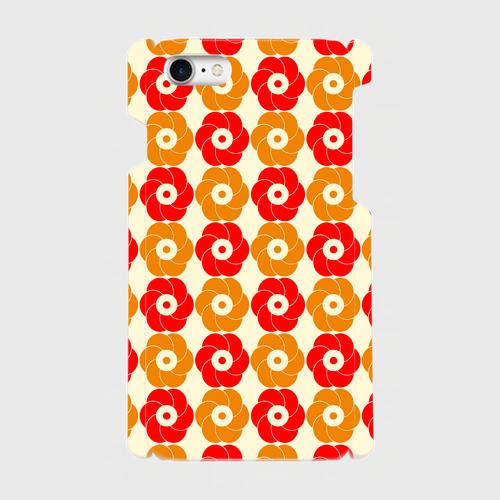 昭和デザイン花咲/iPhoneスマホケース(ハードケース)
