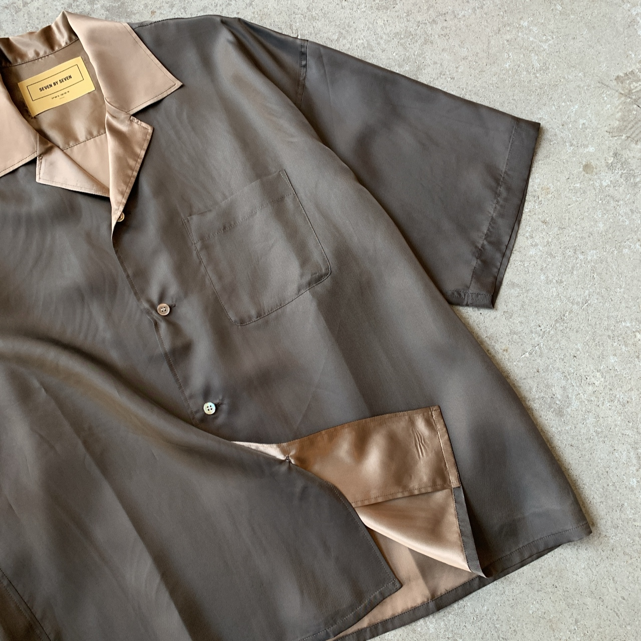 SEVEN BY SEVEN - OPEN COLLER SHIRTS S/S -Cupra-