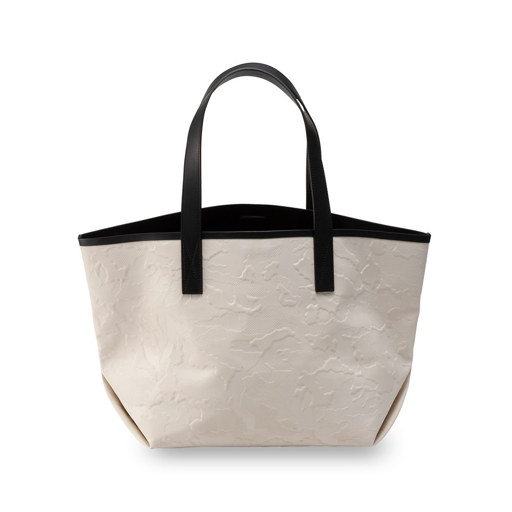 GENTIL BANDIT LABEL NNOIR CANVAS TOTE MM OFF WHITE