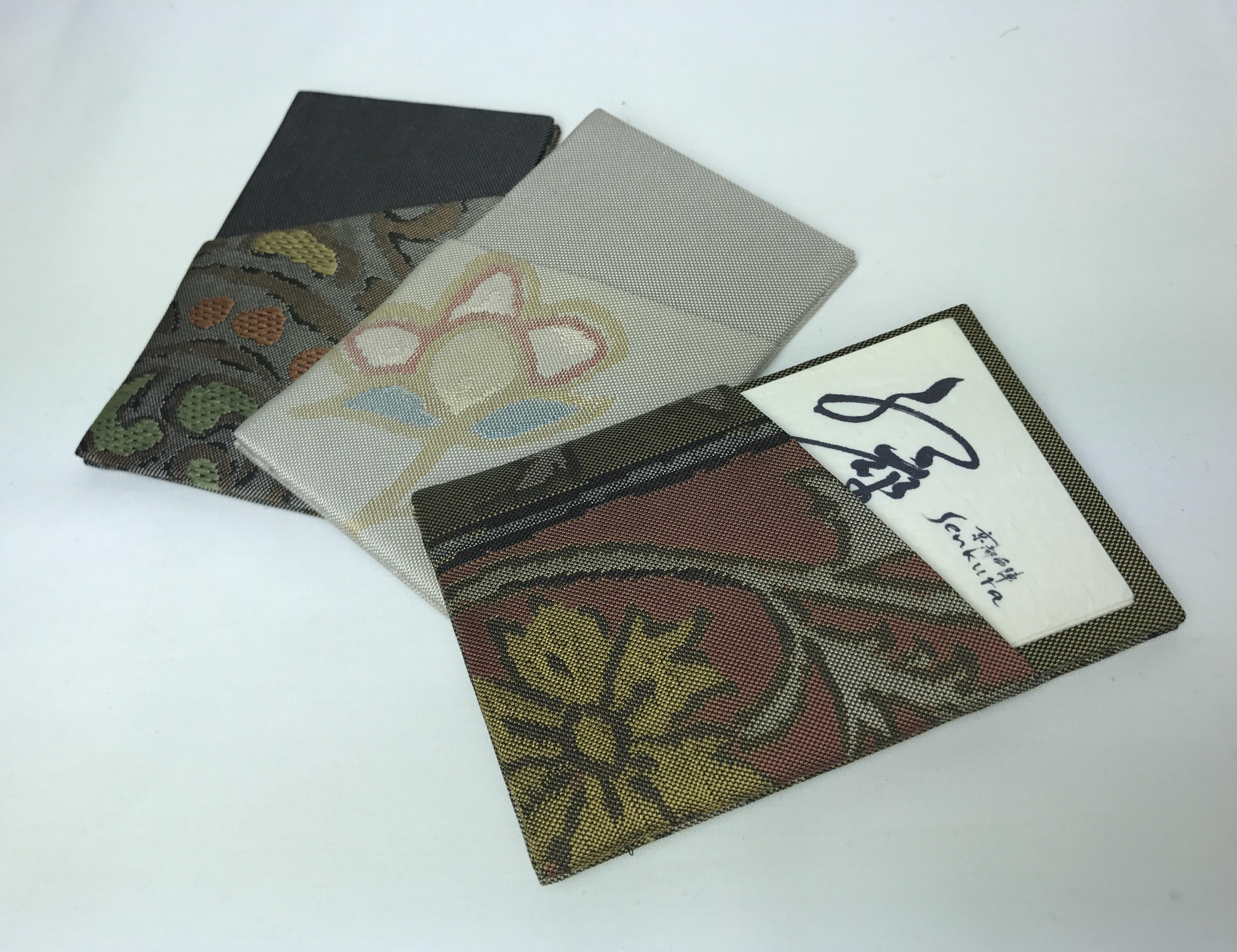 帯地シンプルカード型カード入れ