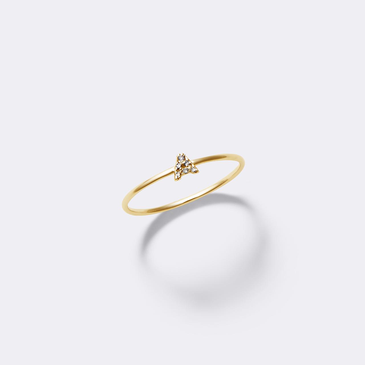 Initial Diamond Ring K10YG(イニシャルダイヤモンドリング K10イエローゴールド)