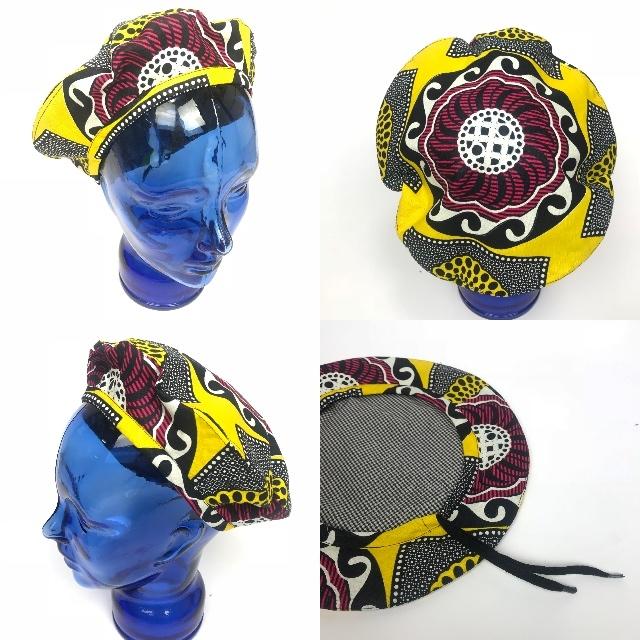 アフリカンプリントベレー帽 10