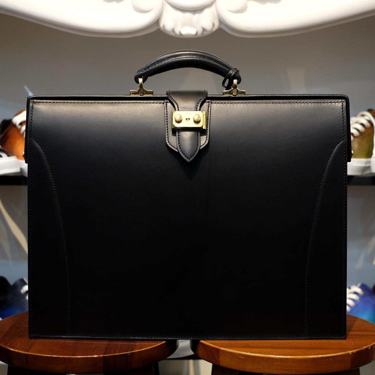 ル・ボナー 細マチダレスバッグ(2マチダレス) ブラック 真鍮無垢錠前