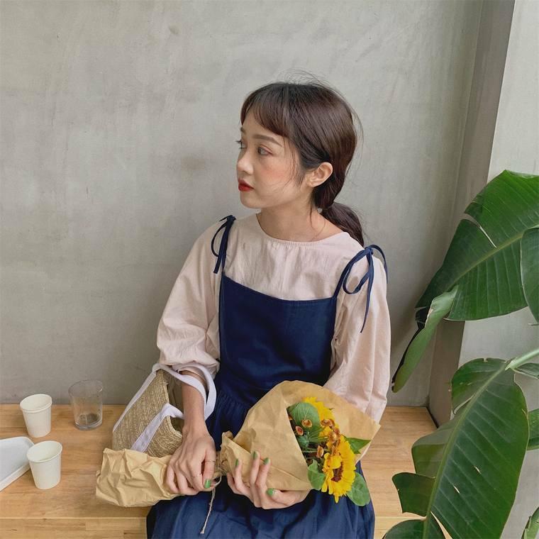 【送料無料】大人ガーリーコーデ ♡ 2点セット シャツ ブラウス × ロング キャミ ワンピース