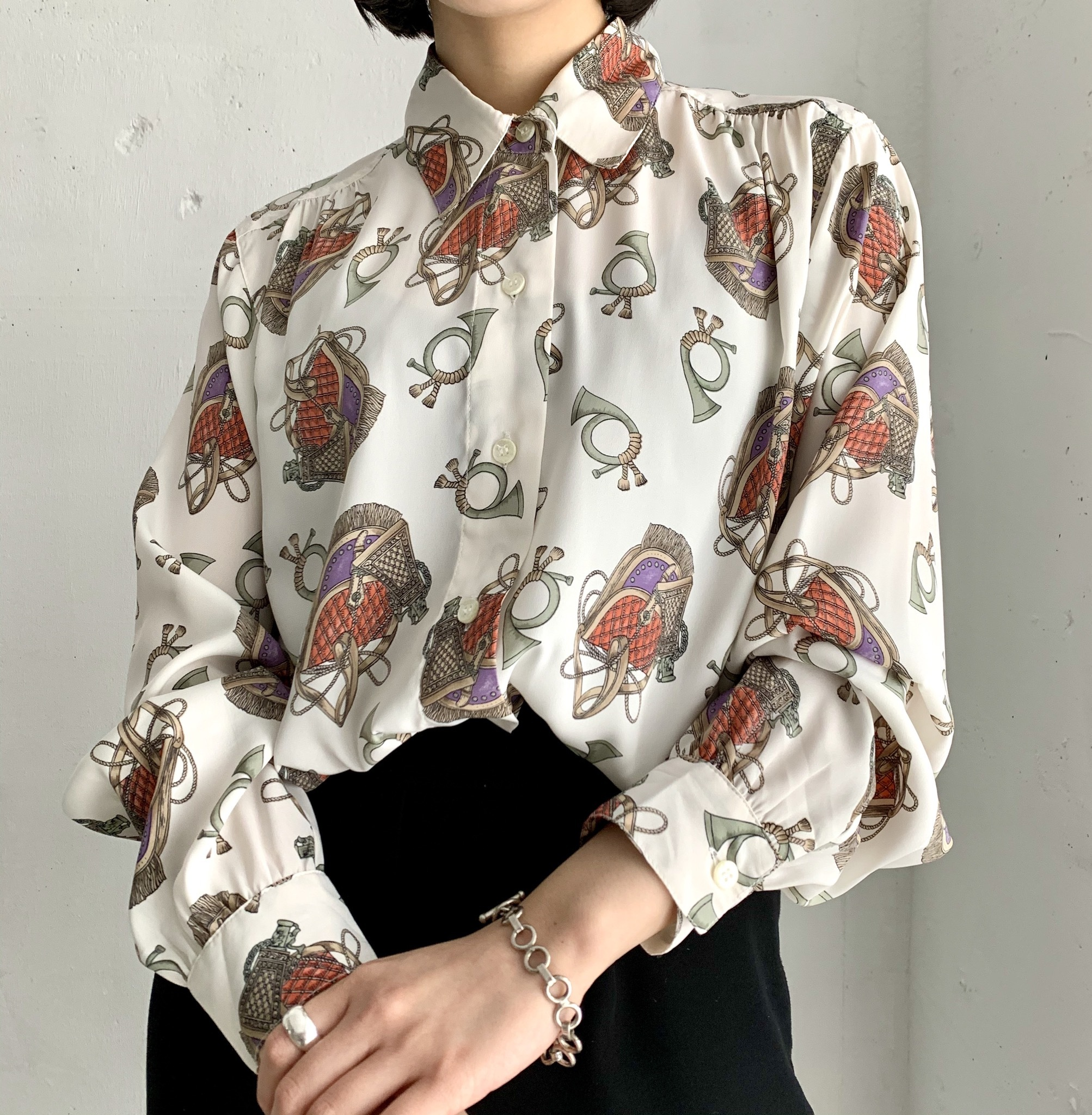 ALFRED DUNNER petite, vintage blouse.