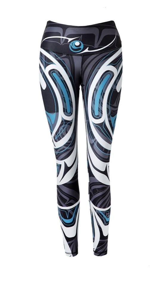 Wolf and Moon Teal Legging