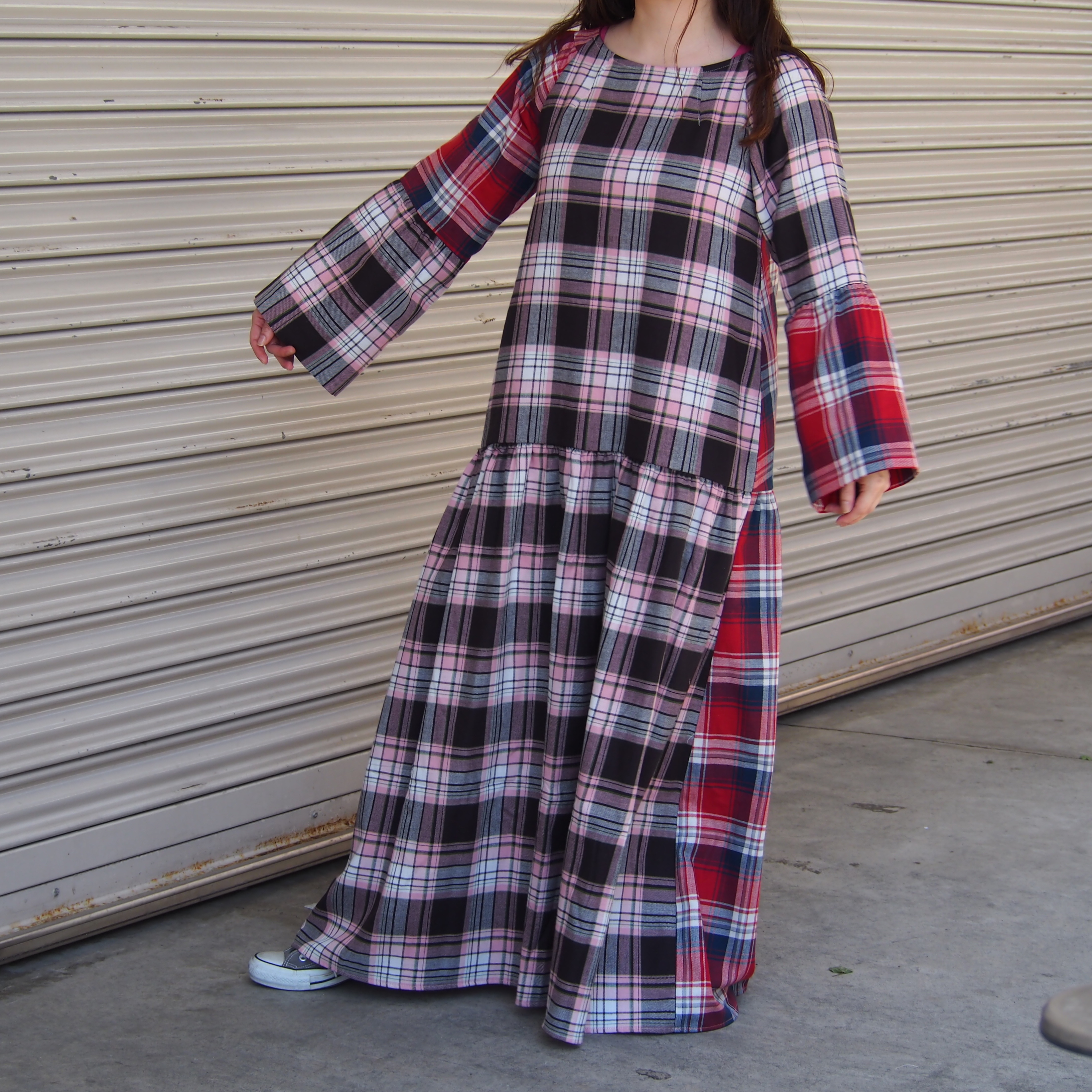【ethical hippi】cotton check one-piece(4) / 【エシカル ヒッピ】コットン チェック ワンピース(4)