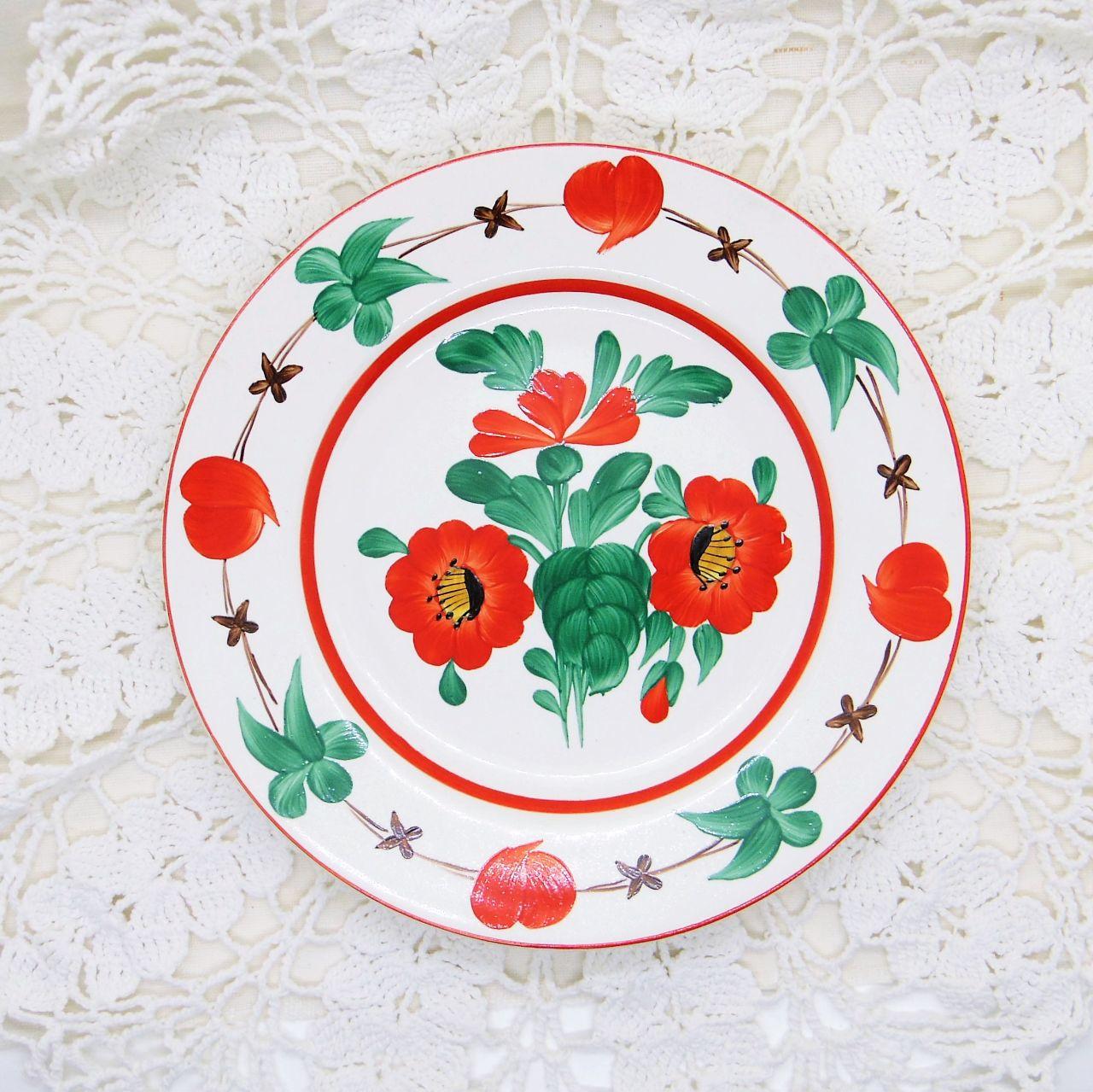 ハンガリーの飾り皿 ハンドペイント小皿②