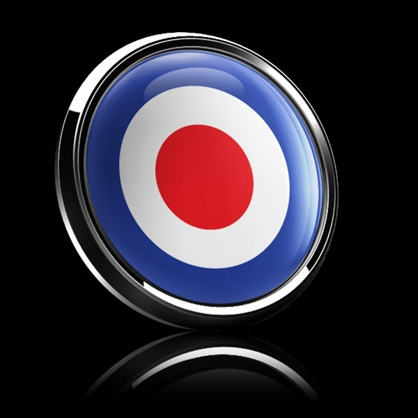 ゴーバッジ(ドーム)(CD0058 - British Royal Air Force Roundel) - 画像2