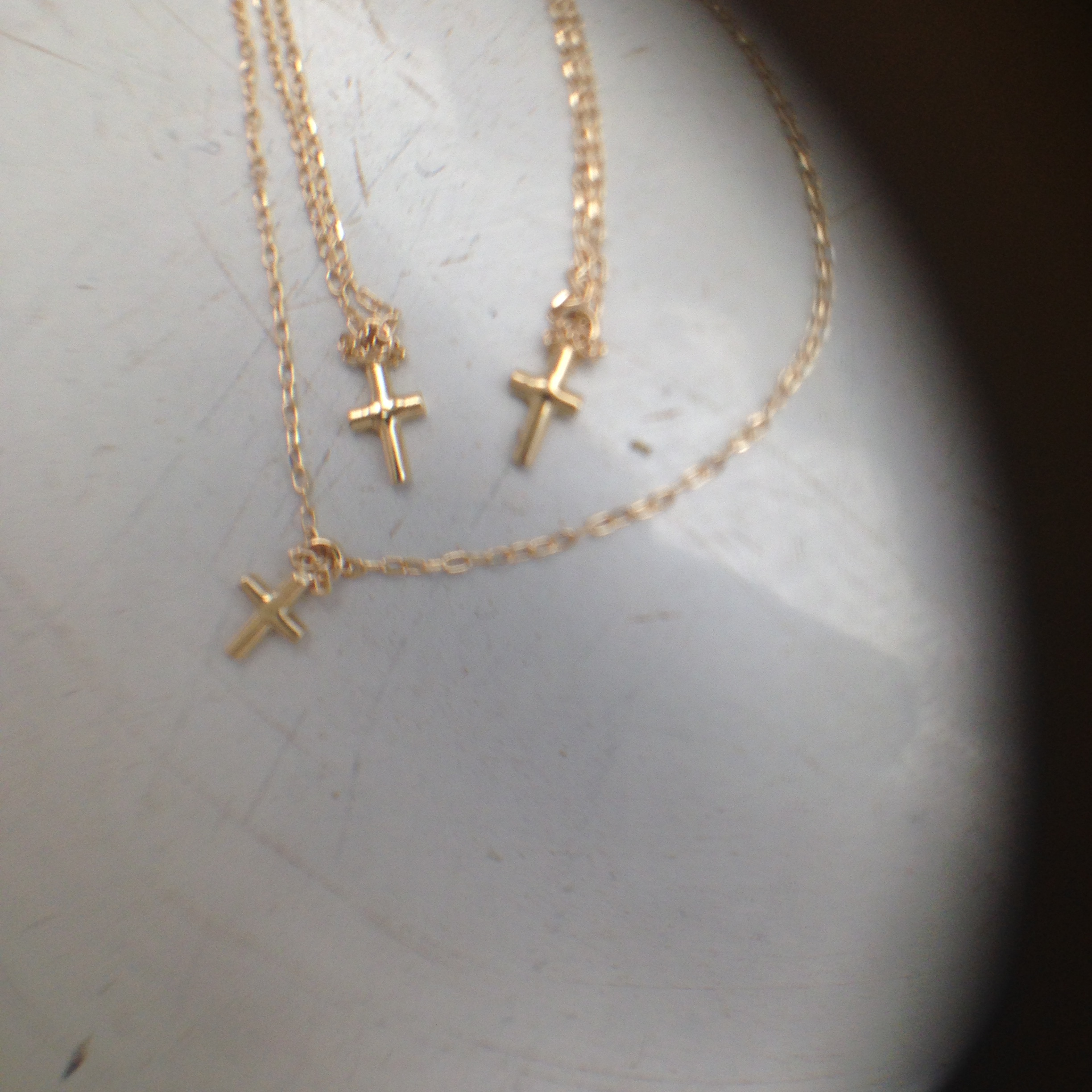 K18cross+++necklace
