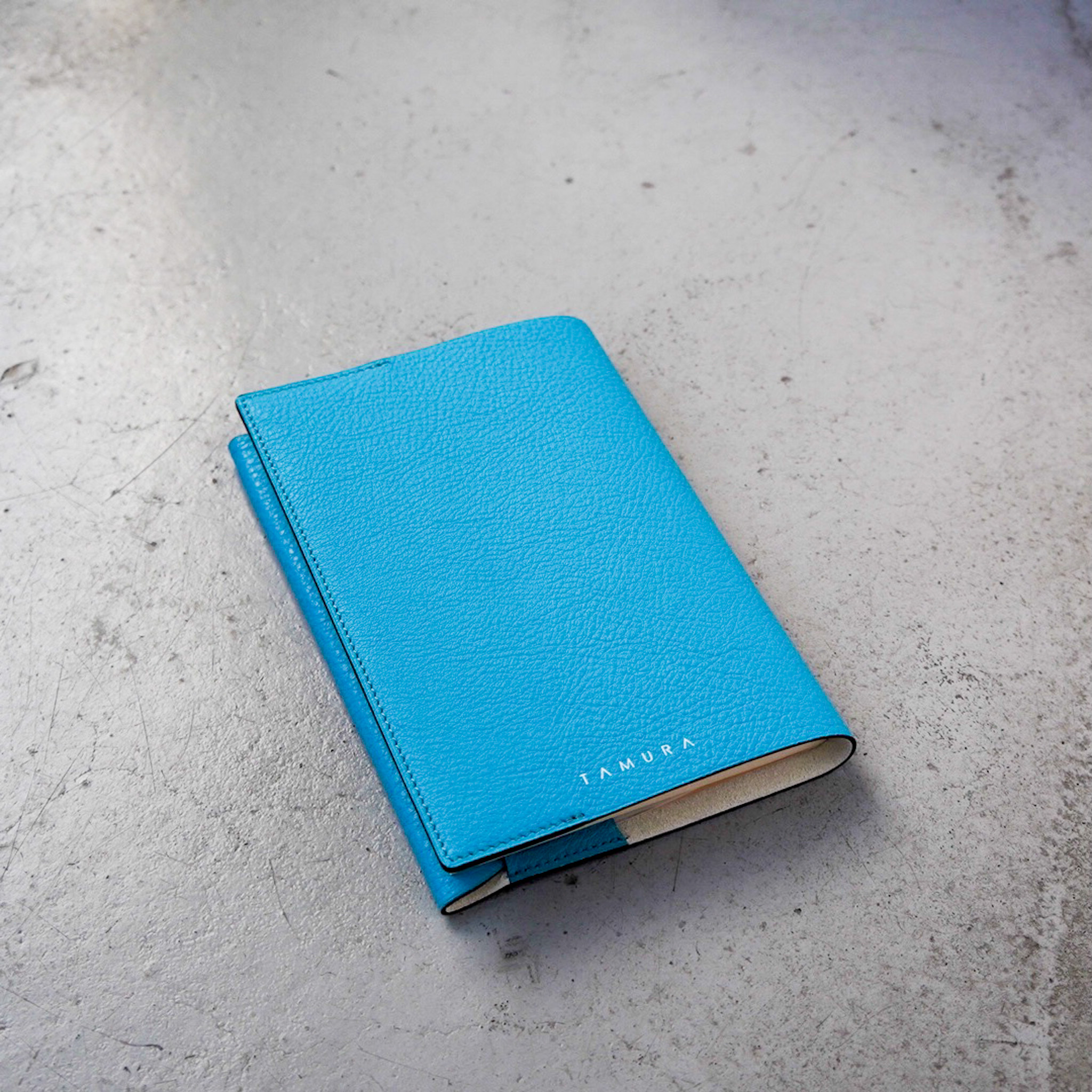 BOOK COVER(文庫サイズ)ライトブルー × アイボリー