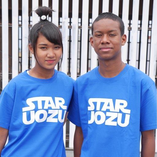 STAR UOZU Tシャツ ブルー×ホワイト