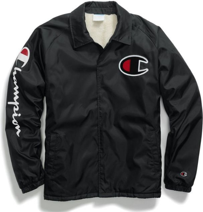 US企画 Champion Life Men's Sherpa Lined Coaches Jacket