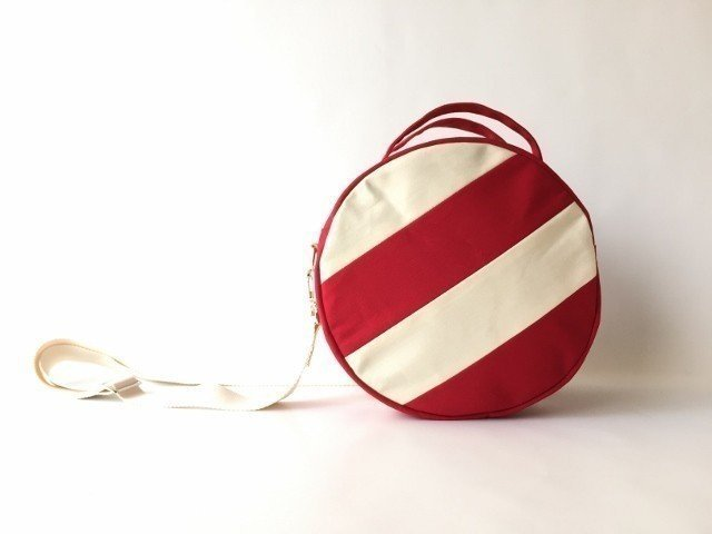 【受注製作】DOTLINE BAG | RED×ECRU
