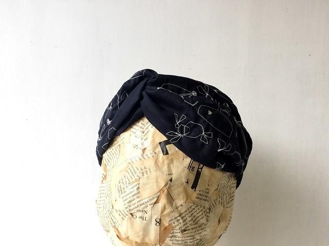 """maruhane-embroidery"" |TURBAN c/#DEEPNAVY"
