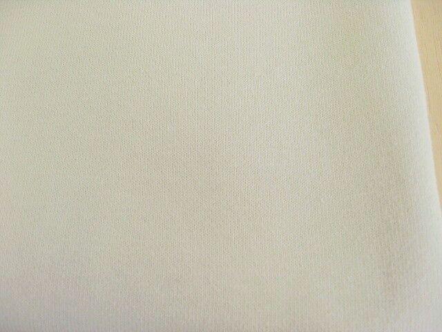 J&B定番・綿コーマ糸厚手スエット地 スモーキーホワイト (オフホワイトより少しくすんだ色目です) NTM-2621
