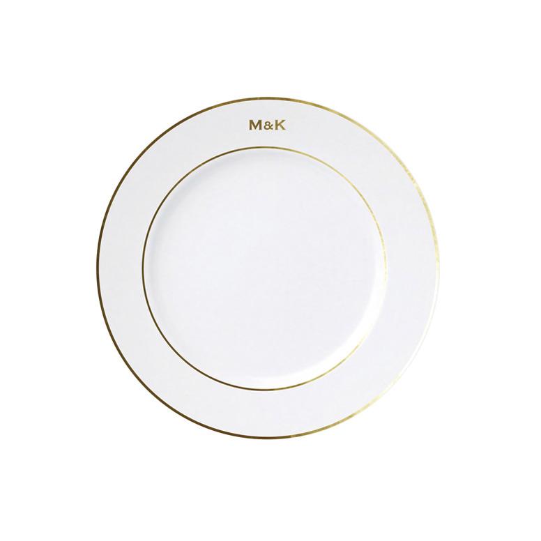 Classic Initial Plate - Copper font
