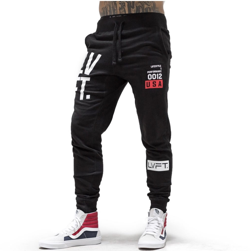 LIVE FIT Stacked Joggers - BlacK