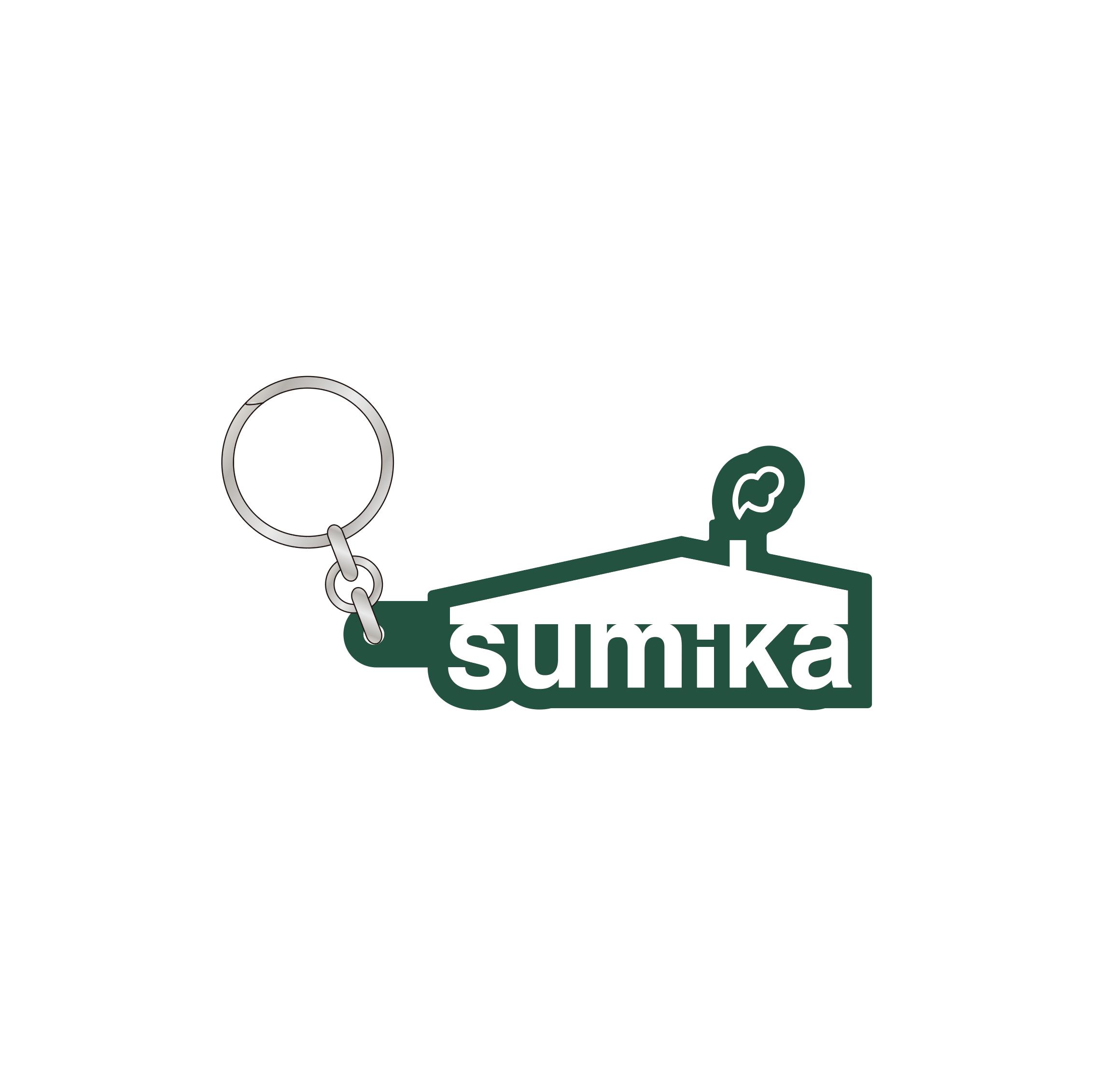 sumika / ロゴラバーキーホルダー(グリーン)