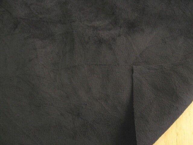 フェイクレザー・スエード しわ加工 (織物) ブラック FKL-140