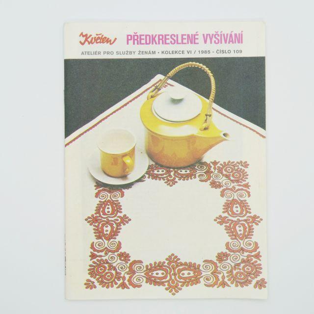 チェコの雑誌「Kveten」vol.109 下絵図案のある刺繍