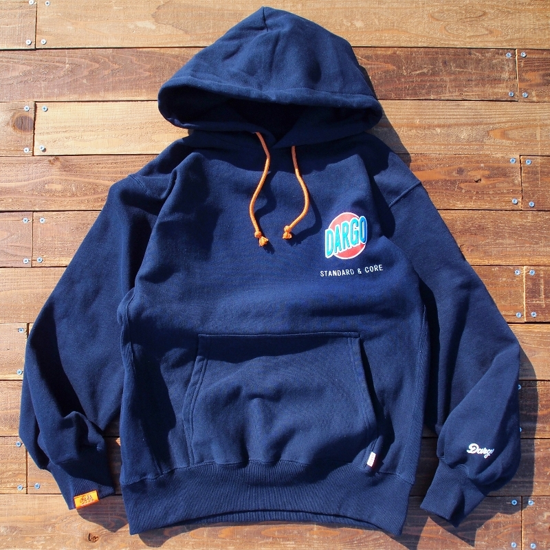 "【DARGO】""Trade Mark"" Heavy Weight Pull Over Hoodie (NAVY)"