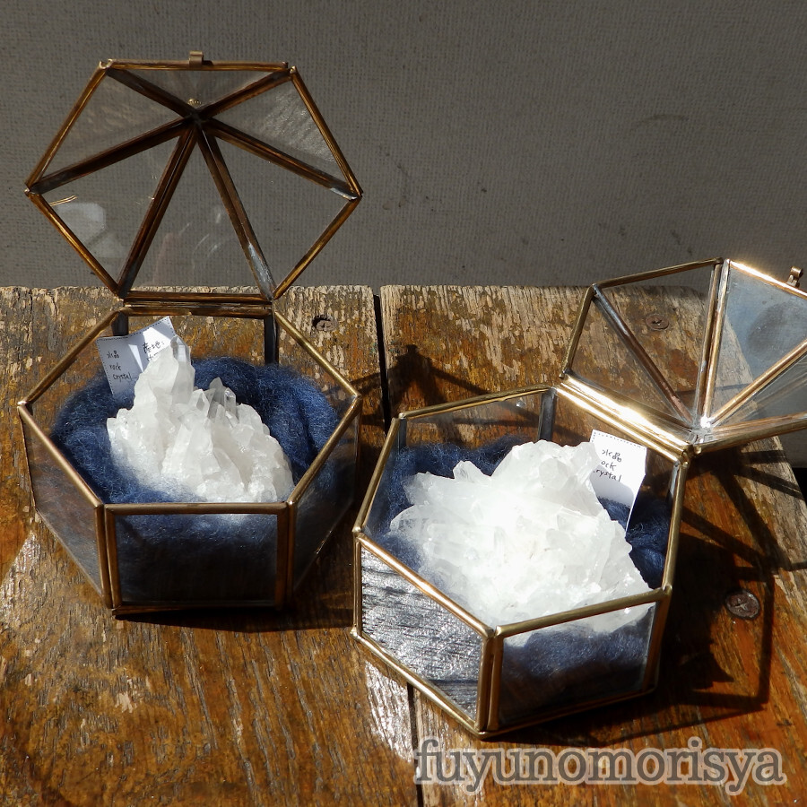 鉱物(テント型ケース大) - 水晶 - フユノモリ社セレクト鉱物 - no20-fuy-08c,08d