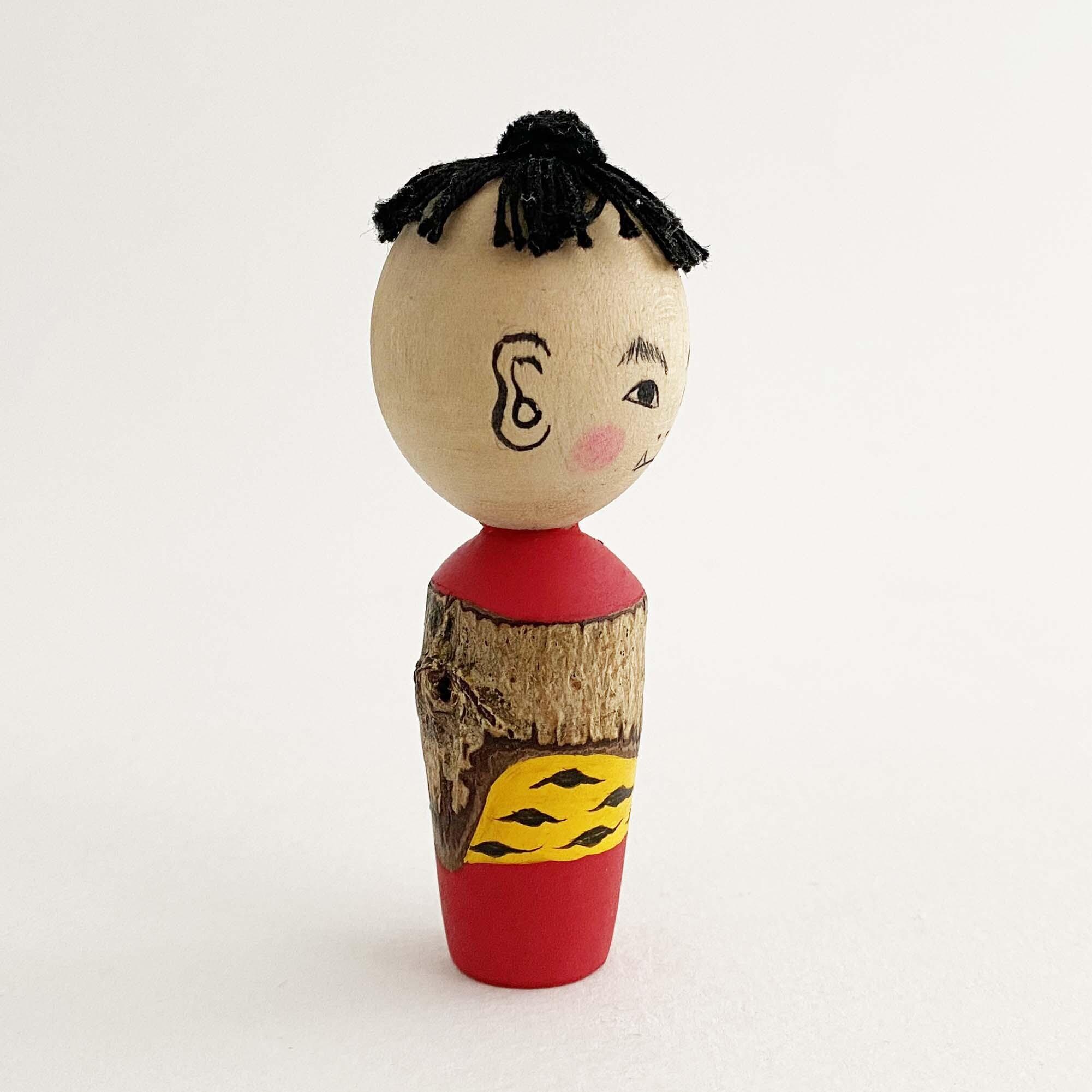 カミナリ坊や木地人形