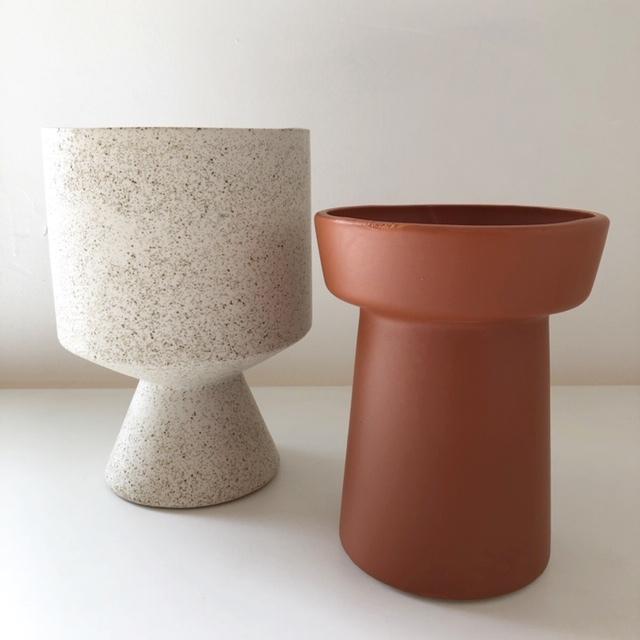 "ceramic pot ""BERTA"" /White 鉢カバー"