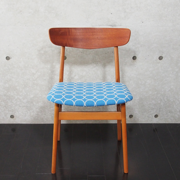 北欧ヴィンテージ Chair Kvadrat Tambourine Blue