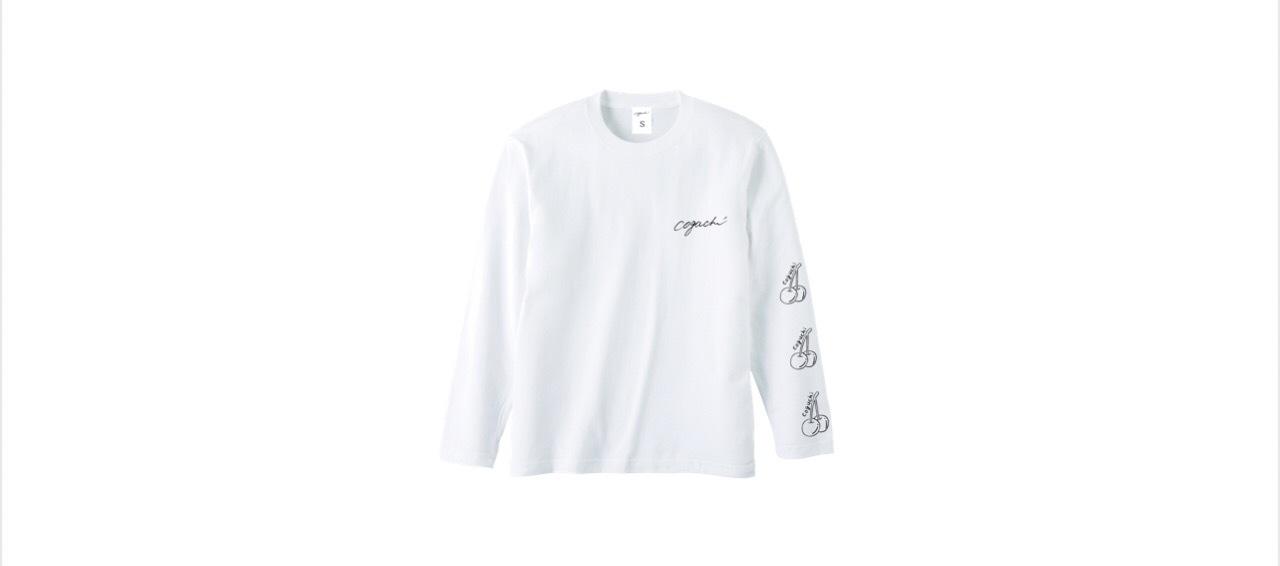 coguchi cherry long T-shirts (WH/BLK)
