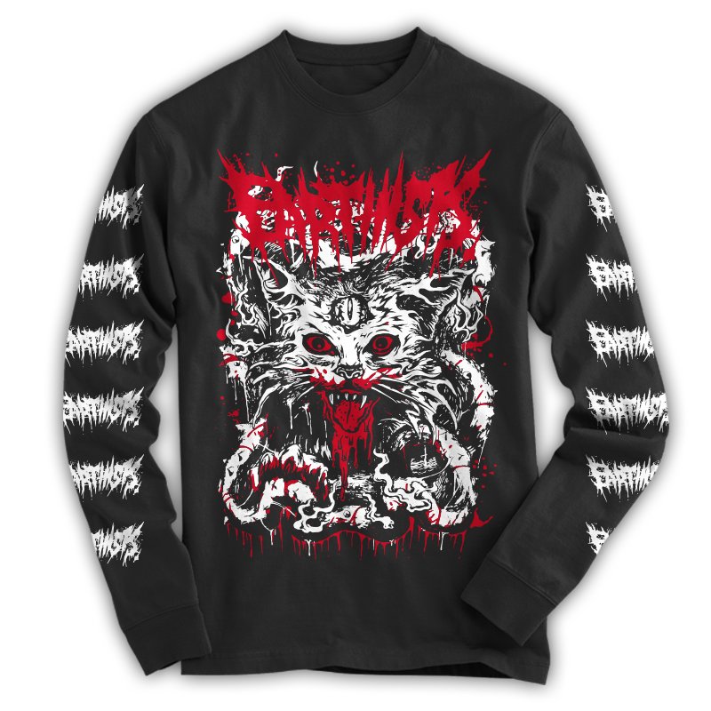 """DEATH CAT"" LONG SLEEVE T-SHIRTS - 画像1"