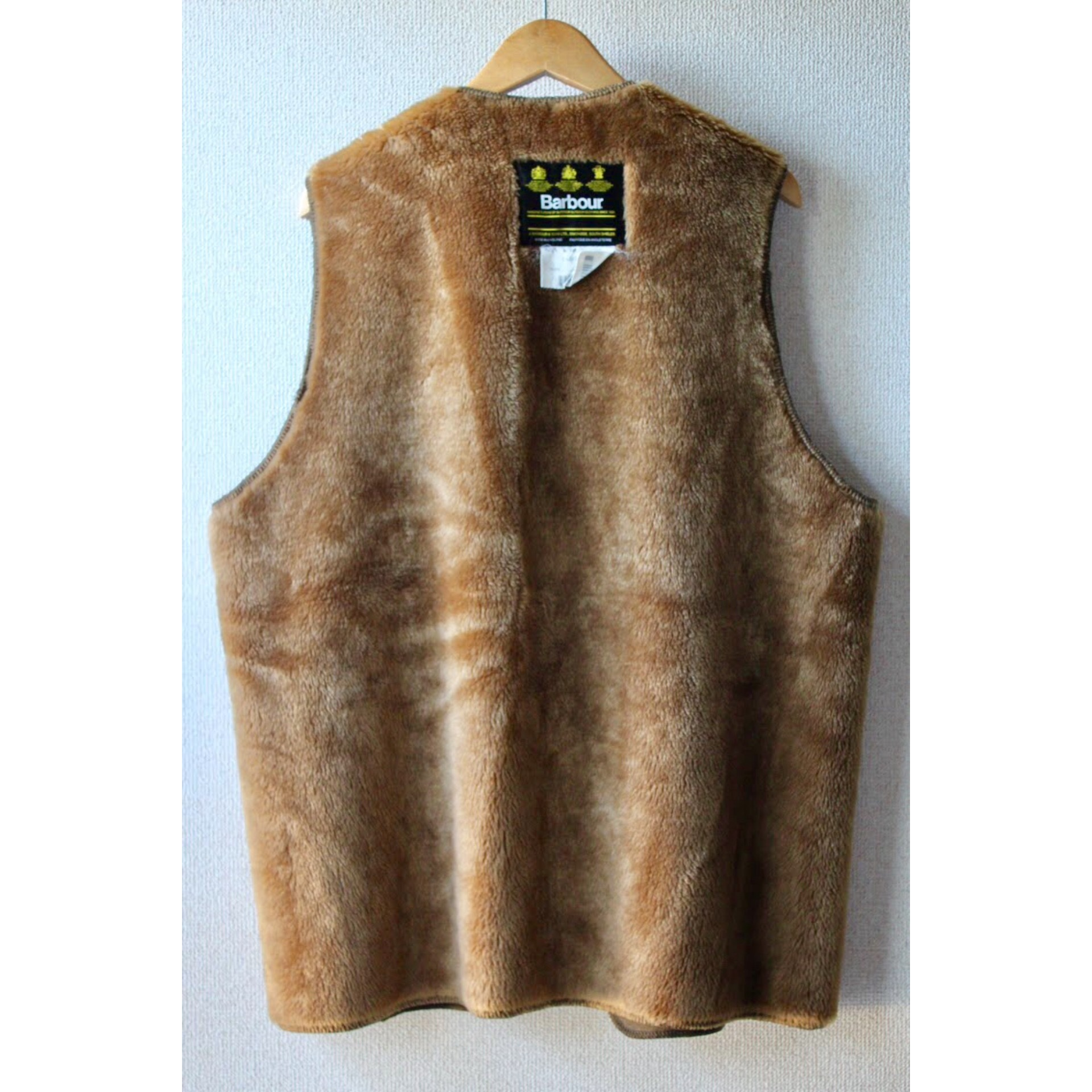Vintage fake fur liner vest by Barbour