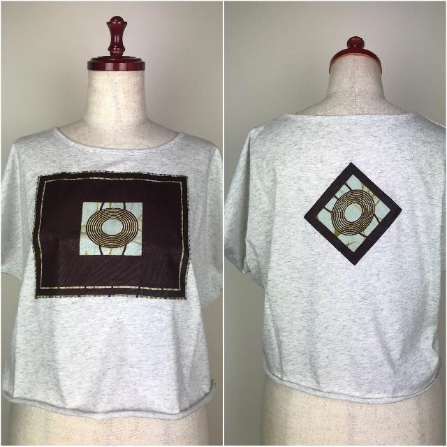 パッチワークドルマンTシャツ06