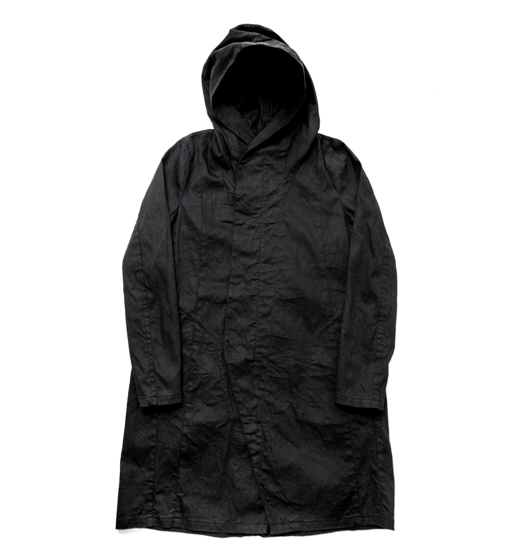 587COM2-BLACK / ロングフーデッドジャケット