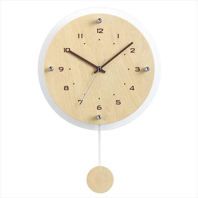 振り子時計 電波時計 ナチュラル Antilles ~アンティール~ W-473 ノア精密 - 画像2