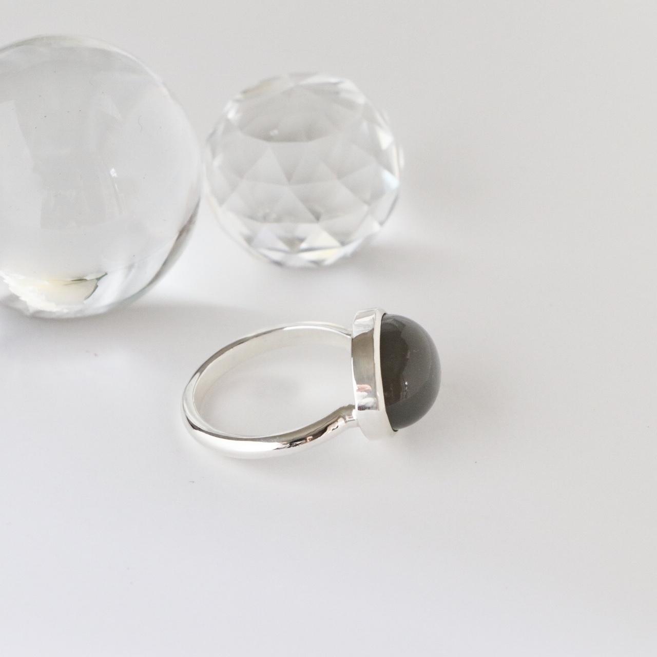 Gray Moonstone Ring ✧silver925 ✧