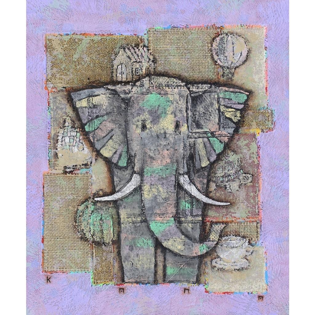 金丸悠児「Elephant plus Icons at random」